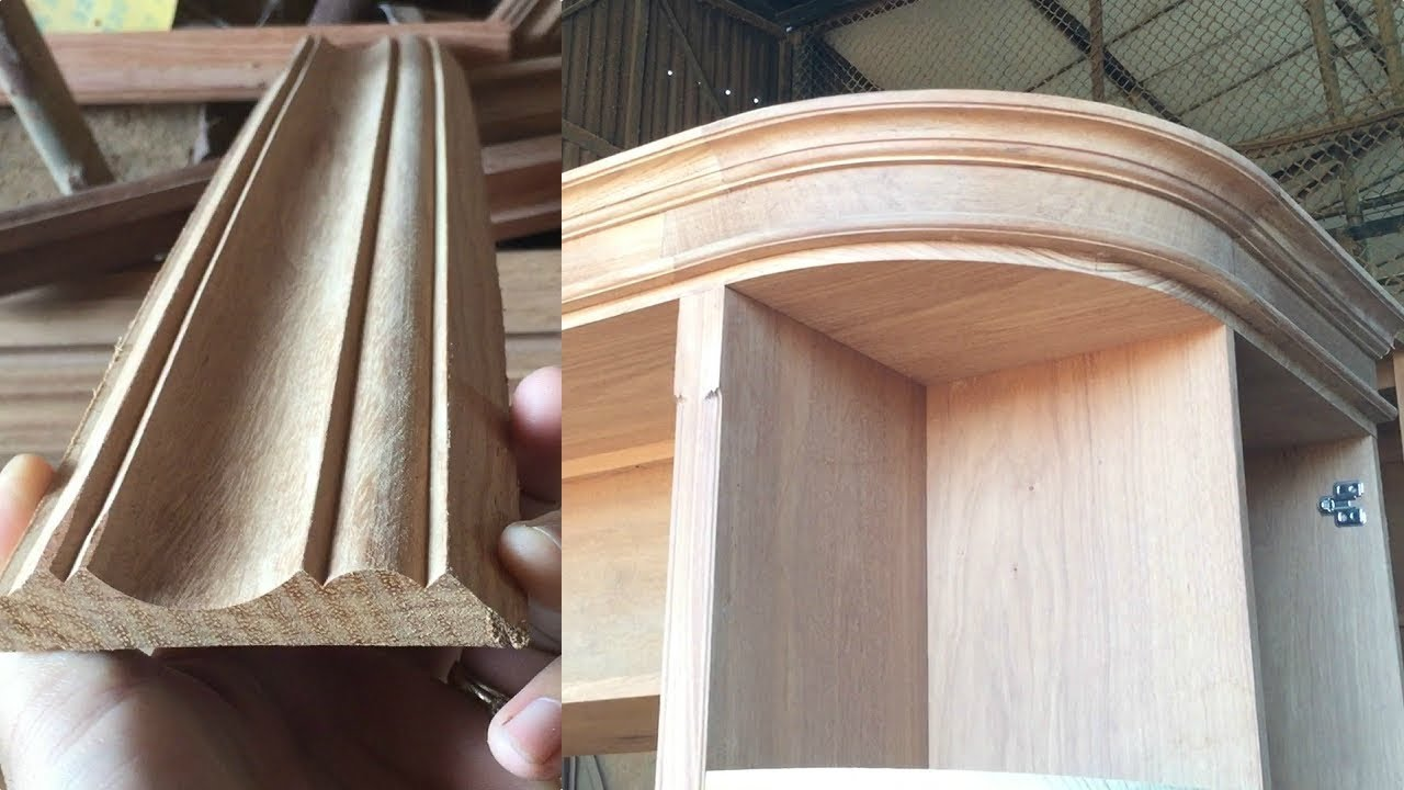 Make Timber Mouldings With A Router Woodworking Making Wood Curved Crown Molding For Cabinets Youtube