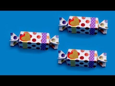 Candy Gift Box DIY _ How To Make Gift Box _ Paper Craft Ideas _ Handmade Gift Box