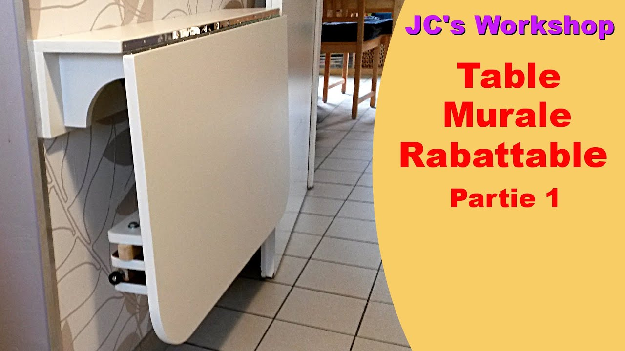 Comment faire une table de cuisine murale rabattable 1 2 for Table de cuisine en bois