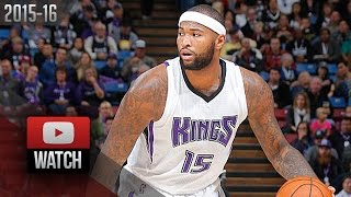 DeMarcus Cousins Full Highlights vs Pistons (2015.11.11) - 33 Pts, 9 Reb, SICK