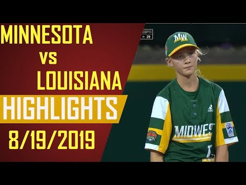 Little League World Series 2019 - Minnesota vs Louisiana Highlights   LLWS 2019