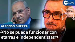 La crítica de Alfonso Guerra contra Pedro Sánchez