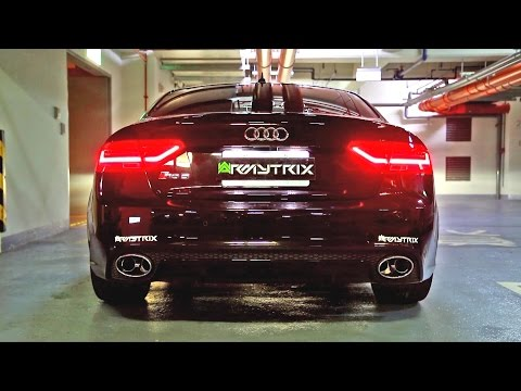 Insane Audi RS5 w/ Armytrix Cat-Back Valvetronic Exhaust Sound!