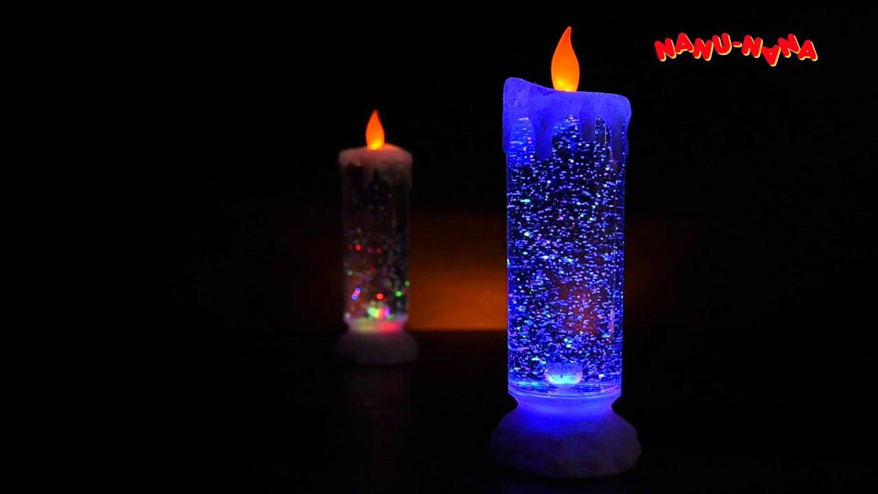 LED-Kerze mit Farbwechsel und Glitzer von Nanu-Nana ...