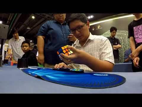 14.85 Official Rubik's Cube One-handed Average [Bangkok Cube Day Summer 2018]