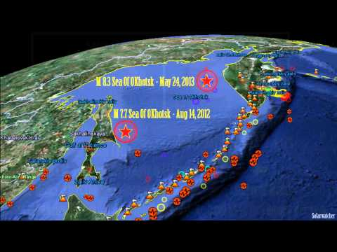 Sea Of Okhotsk Earthquakes & Planetary Symmetry 2012-13