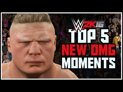 WWE 2K16 - Top 5 NEW OMG Moments! WWE 2K16 Countdown! (PS4 & XBOX ONE)