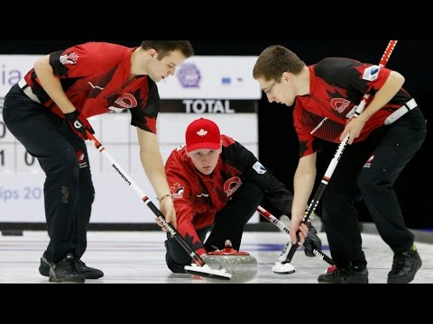 CURLING: CAN-SUI - World Junior Chps 2015 - Men Gold