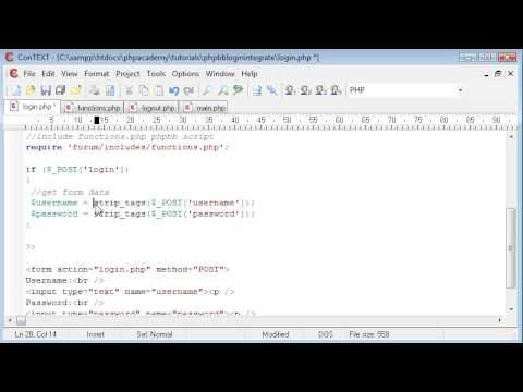 PHP Tutorials: phpBB Login Integration (Part 1)