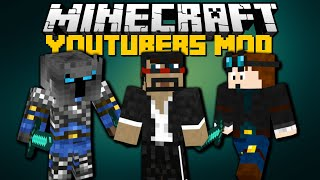 Minecraft: YOUTUBERS MOD (DanTDM, VanossGaming, PopularMMOs) Mod Showcase