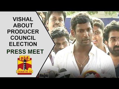 Vishal's press meet about Tamil Cinema Producer Council Election | Thanthi TV