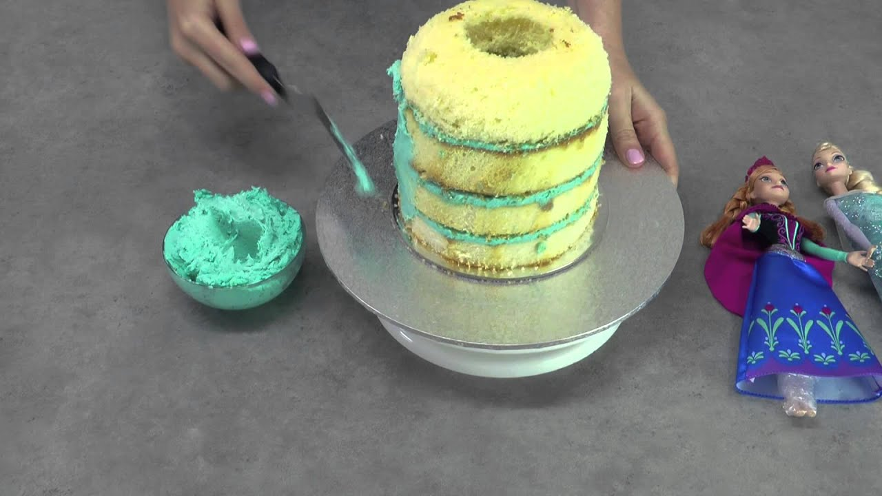 Frozen Cake Elsa Anna Princess Pinata Cake Feat Both Elsa And