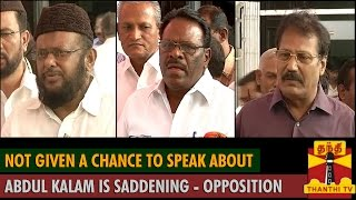 """Not Given a Chance to Speak about APJ Abdul Kalam is Saddening"", Opposition Parties"