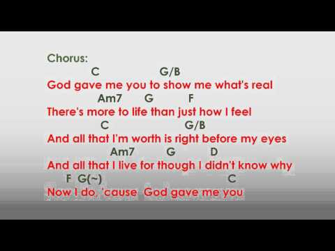 God gave me you with lyrics and chords