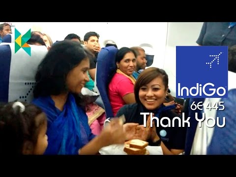 Indigo Airlines 6E445 India Big Birthday Surprise for my mother @ 30000 feet
