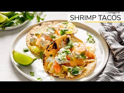 SHRIMP TACOS | easy, healthy recipe