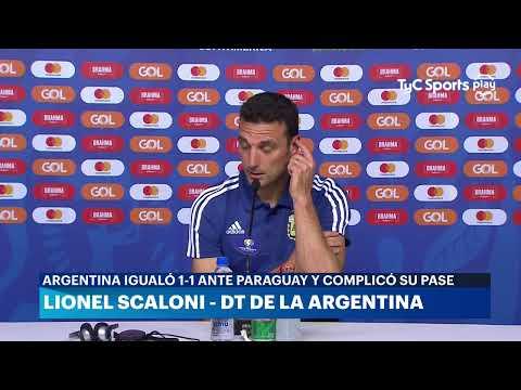 Conferencia de prensa: Lionel Scaloni