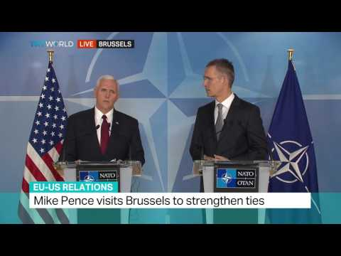 EU-US Relations: Mike Pence visits Brussels to strengthen ties