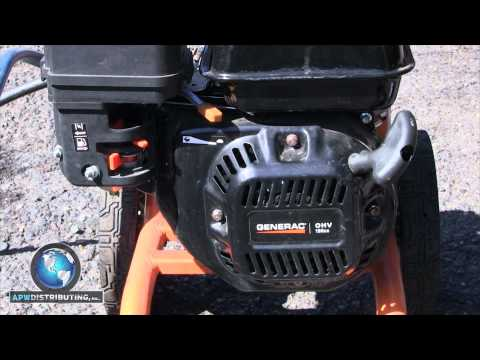 How to setup and start a pressure washer