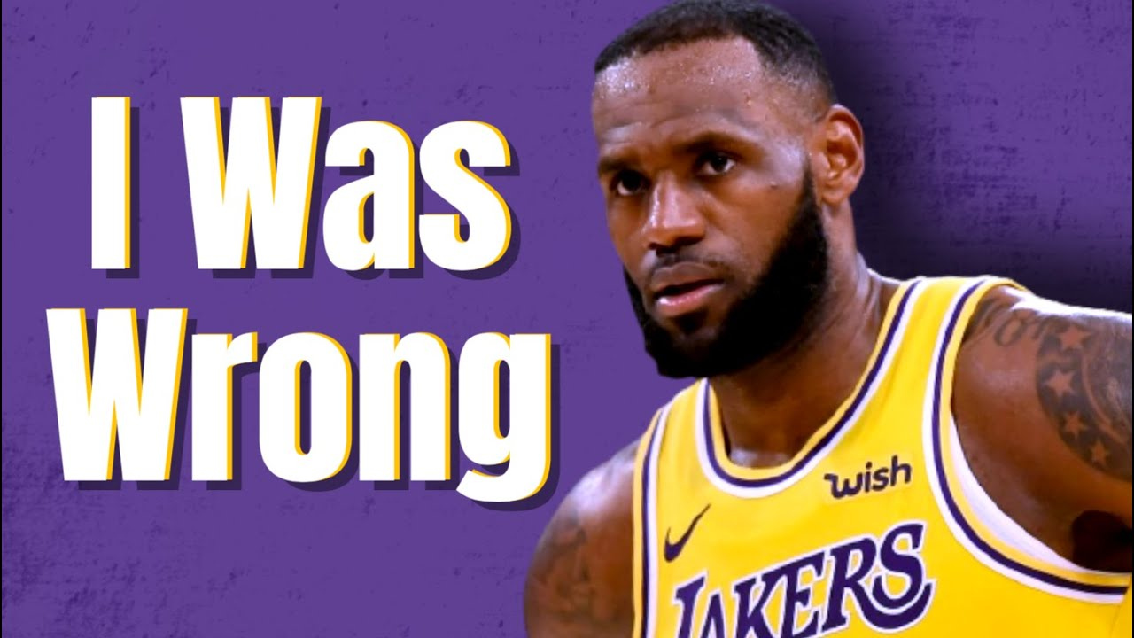 So I Was Wrong About The Lakers...