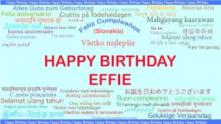 Effie   Languages Idiomas - Happy Birthday