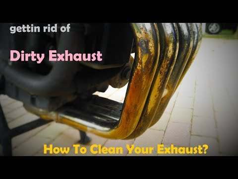 Exhaust cleaning with Harpic and Autosol
