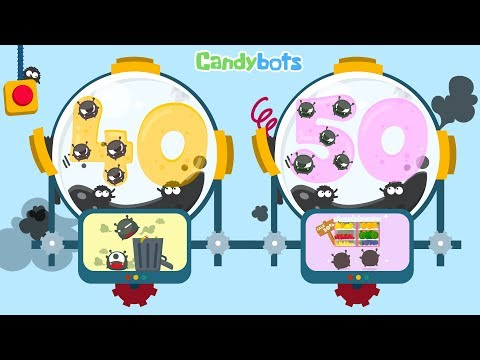 Candybots Numbers 123 - Learn counting 40 to 50 number -  Education Apps for Kids