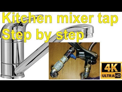 How to install a kitchen basin mixer / pillar tap - step by step