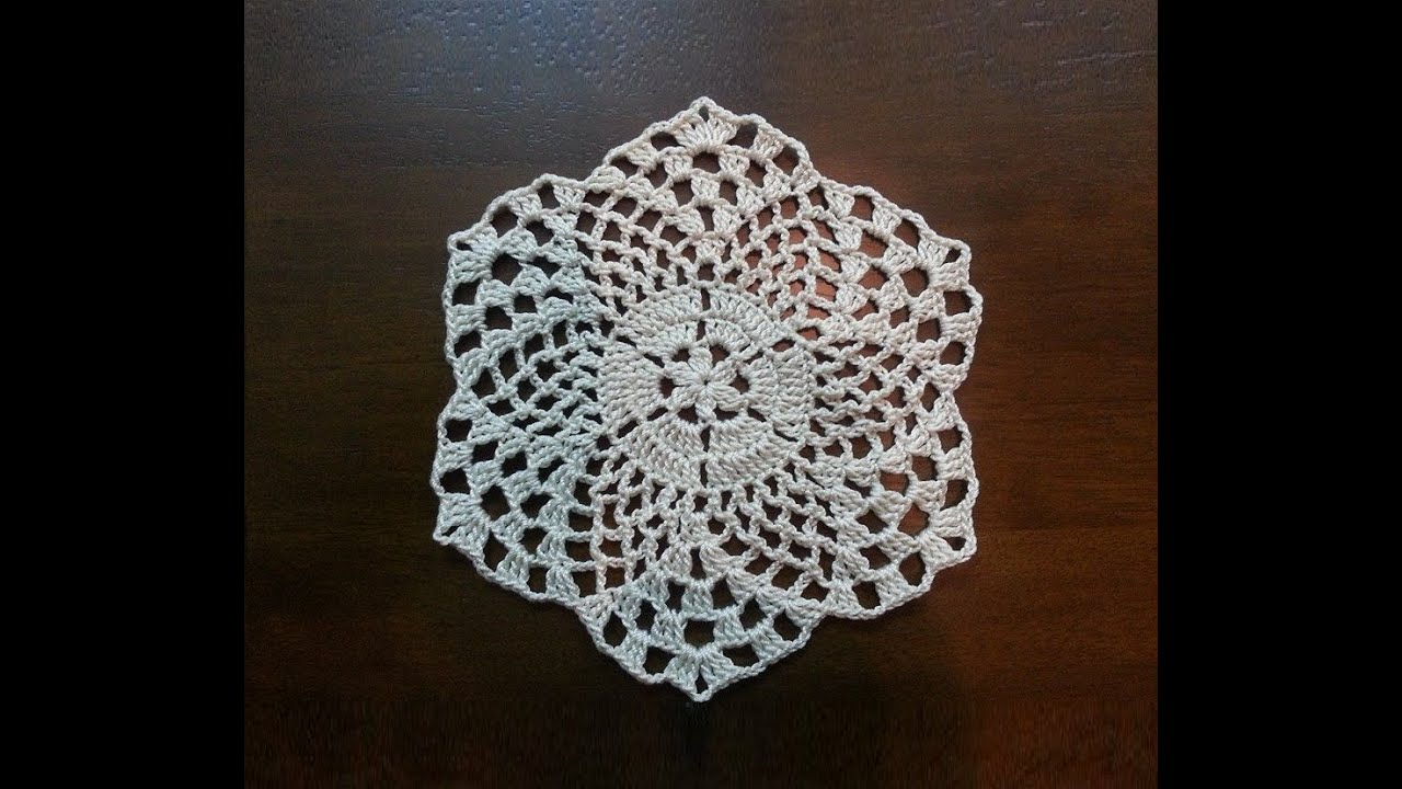 Free Crochet Patterns For Mini Doilies : Crochet Beautiful Mini Doily - Pineapples Pattern - Part 1 ...
