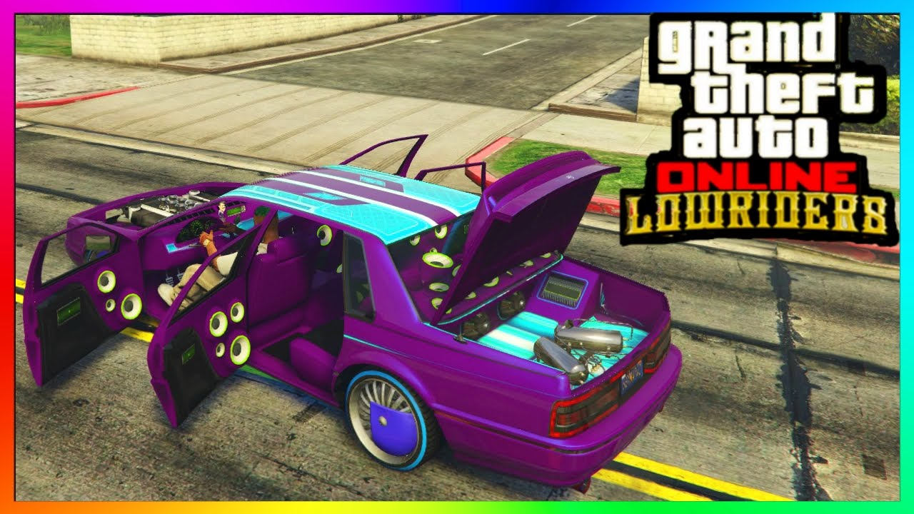 gta 5 online lowrider dlc albany primo all paint jobs hydraulics interiors customized. Black Bedroom Furniture Sets. Home Design Ideas