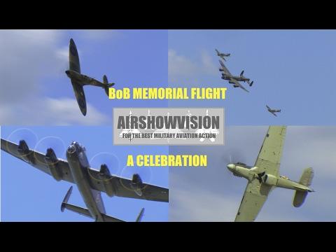 RAF BATTLE OF BRITAIN MEMORIAL FLIGHT - A CELEBRATION (airshowvision)