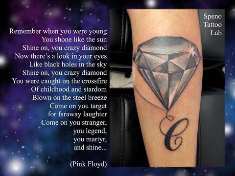speno tattoo lab - crazy diamond tattoo time lapse
