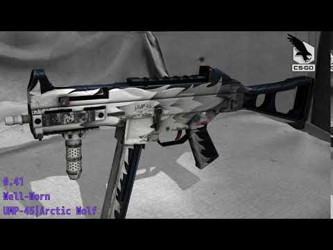 UMP-45 Arctic Wolf - Skin Wear Preview