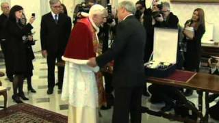 Pope meets with President of Chile Sebastián Piñera in the Vatican