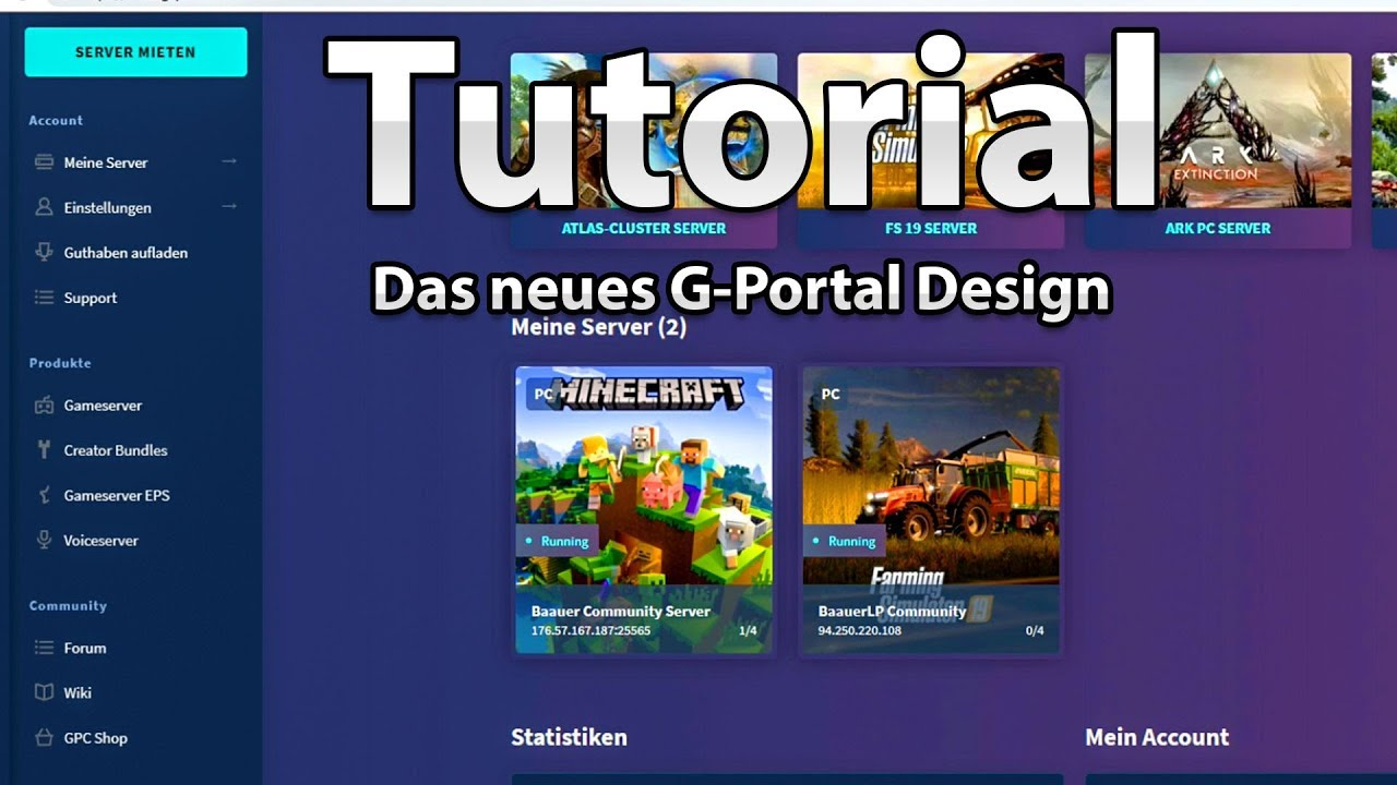 [TUT] Wie richte ich meine Server mit dem neuen G-Portal Design ein?