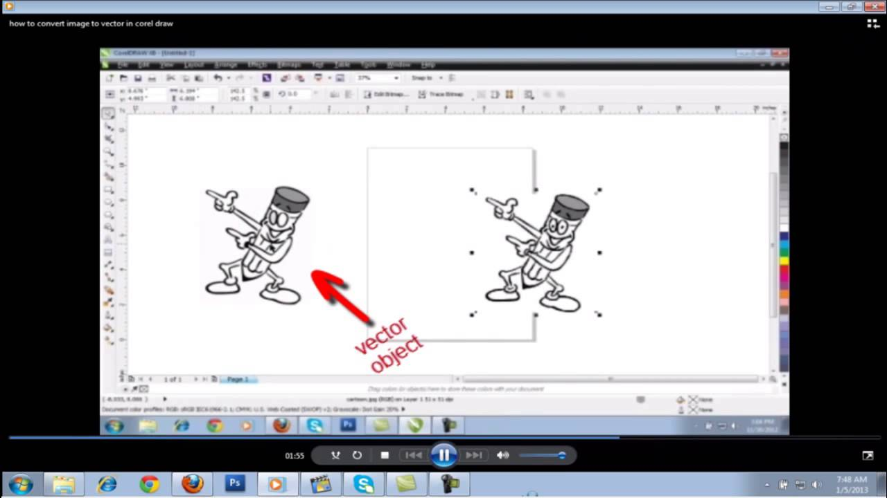 Quickly convert image to vector in corel draw youtube gumiabroncs Images