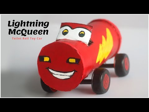 Lightning McQueen Toys Disney Cars DIY | Toilet Roll Craft | Cardboard Crafts