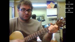 "How to play ""Teenage Dirtbag"" by Wheatus on acoustic guitar"