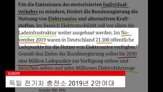 2050 탄소중립 - 독일 2030 전기차 충전소 보급…
