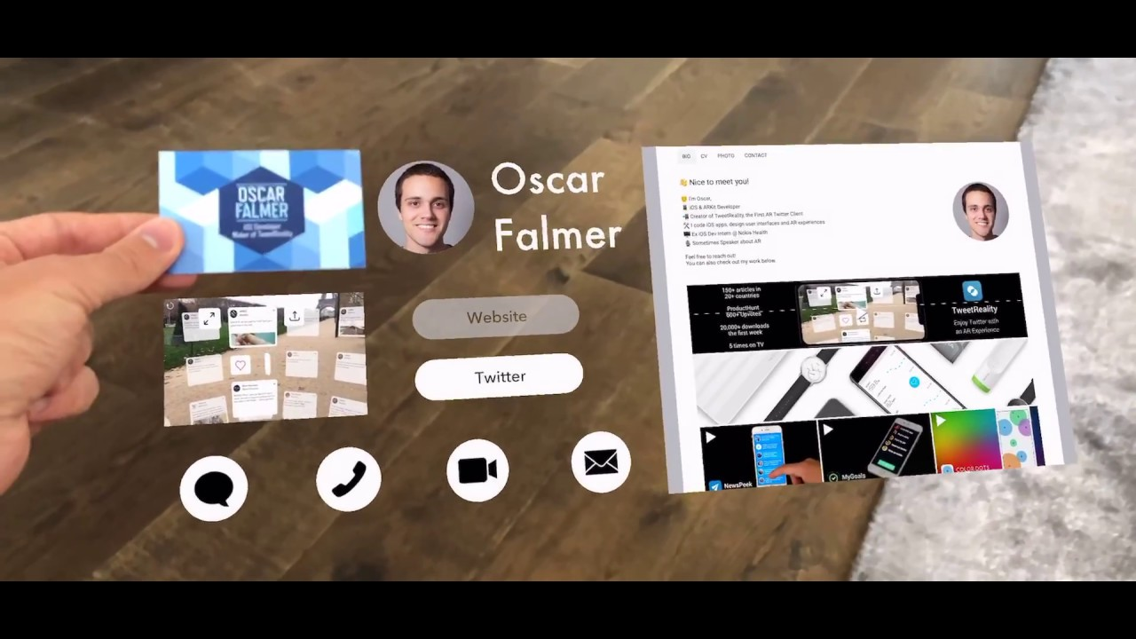 Ar business card concept made with arkit youtube ar business card concept made with arkit reheart Choice Image