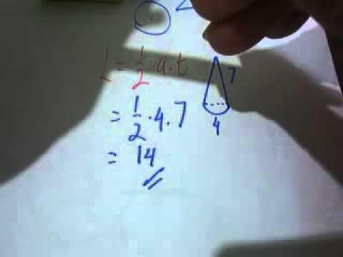 Cara Cepat Luas Lingkaran segitiga juring