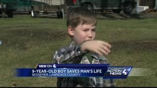 9-year-old boy helps save neighbor's life