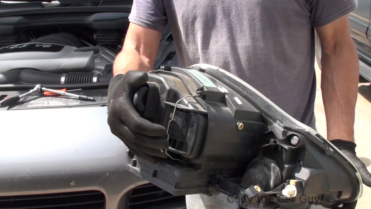 Porsche Cayenne Headlight Wiring Harness And Turn Signal Bulb Replacement Youtube