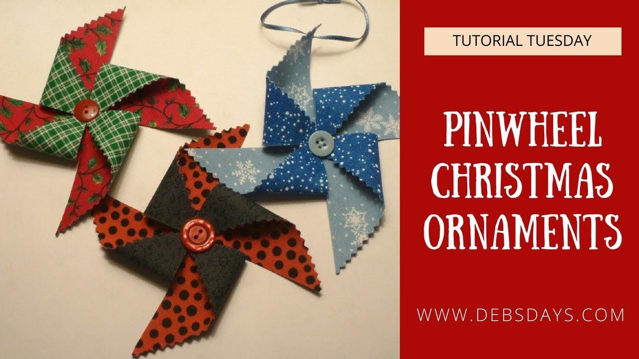 How to Make Pinwheel Christmas Ornaments from Fabric and ...