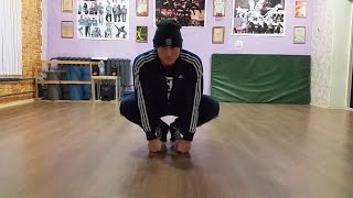 Брейк данс обучение jump turtle краб, B boy Слок