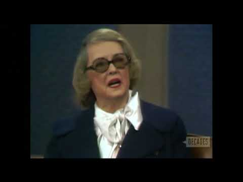 Bette Davis--1971 TV Interview, Arte Johnson, Birch Bayh