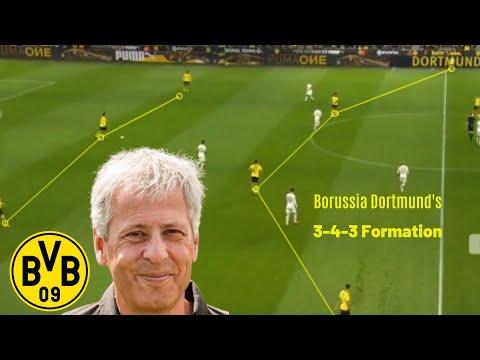 Borussia Dortmund's 3-4-3 tactics | Lucien Favre | Striker Roles of Reus & Haala