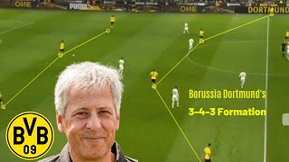 Borussia Dortmund's 3-4-3 tactics   Lucien Favre   Striker Roles of Reus & Haaland