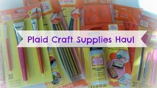Plaid Craft Supplies Haul