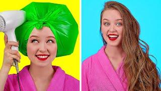 聰明又簡單的女生妙招 || 123 GO!給女生的酷炫髮型及化妝點子